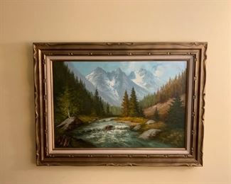 Painting on canvass with great frame