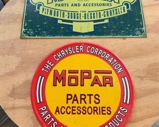 Vintage MOPAR Signs