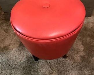 Orange Footstool