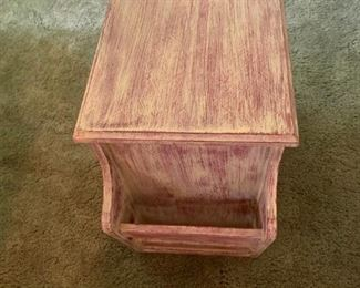 Distressed end tables - there are two of these