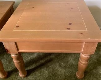 Two pine end tables