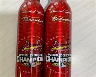 2006 World Champion Cardinal Budweiser bottles