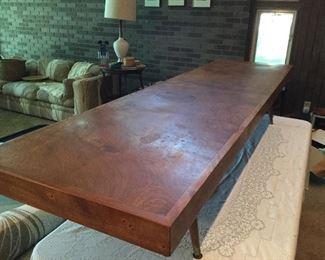 Oiled walnut coffee table. 7 feet of MCM