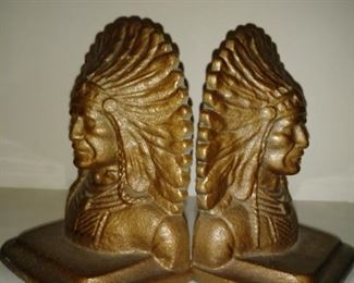 Indian Chief Book Ends