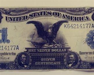 One Silver Dollar/Silver Cert. 1899