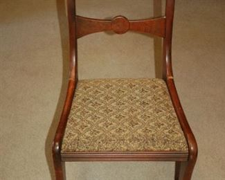 Antique straight back chair