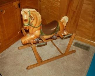 """""""Wonder Horse"""" vintage rocking horse"""