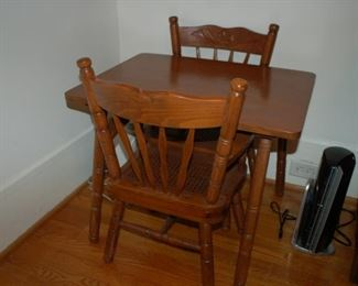 Small child's table with two chairs