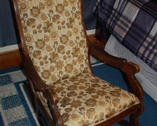 Vintage floral covered rocking chair