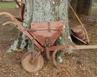 Antique horse/mule drawn seeder/planter