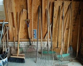 Yard tools, all shapes, sizes and types!