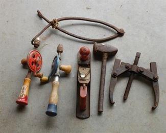 Sample of vintage tools