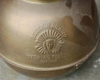 Redskin Brand Chewing Tobacco Spittoon