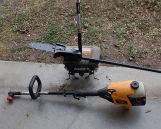 Poulan 445-0 Pro with tiller, tree saw