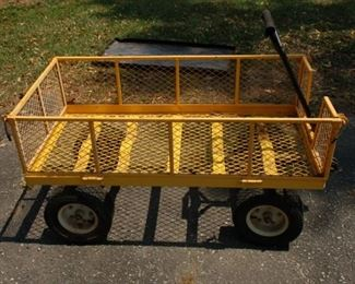 Large yard cart with sides