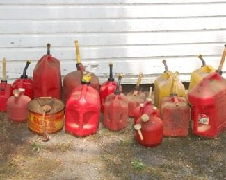 Gas cans, all shapes and sizes!