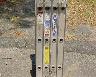 Werner aluminum folding ladder 6'/12'