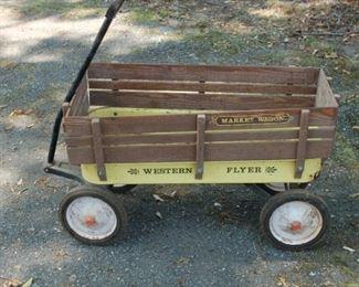 "Vintage Westen Flyer ""Market"" wagon"