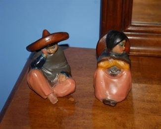 Wood carved figurines