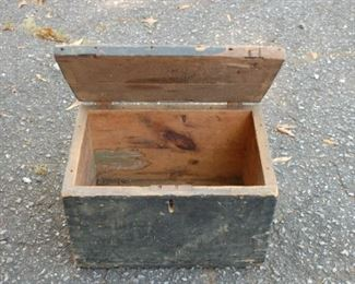 Vintage wooden box with lid