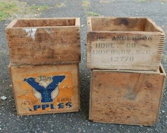 Sample of vintage wooden boxes