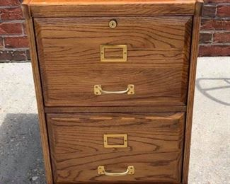 BR0112: American Blond Wood 2 Drawers file Cabinet $125 Local Pickup https://www.ebay.com/itm/113848496375
