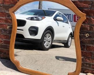 BR0117 Wood Framed Mirror $45 Local Pickup https://www.ebay.com/itm/113848505978
