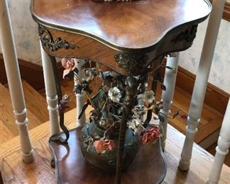 CH046: Neoclassicism French Provincial Parlor Room Flower End Table Local Pickup https://www.ebay.com/itm/123869289434