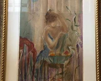 CH082: ECOLE DE BALLET III BY JANET TREBY framed serigraph 300/385 Local  https://www.ebay.com/itm/113848488709