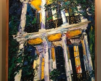 James Michalopoulos Oil on Canvas New Orleans House Local Pickup WY1001 https://www.ebay.com/itm/123869743005