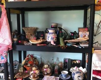 Home decor pieces, stoneware and pottery