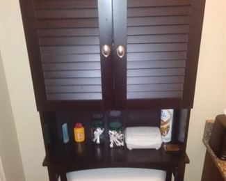 Over toilet shelving unit