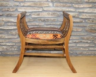Upholstered curule chair