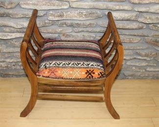 Upholstered curule chair- shown from top