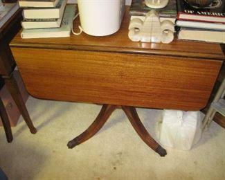 Vintage Claw Foot Drop Leaf Table