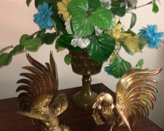 Solid Brass Roosters