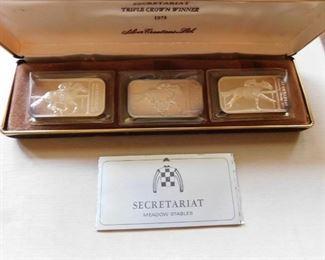 Secretariat Silver Bar Triple Crown Winner Boxed Set