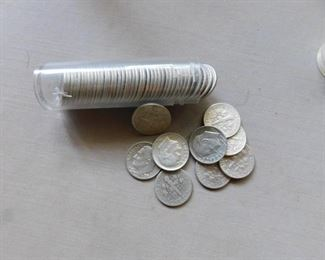 Roll of Silver Eisenhower Dimes