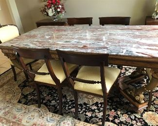 Beautiful marble top table. Need to see to appreciate