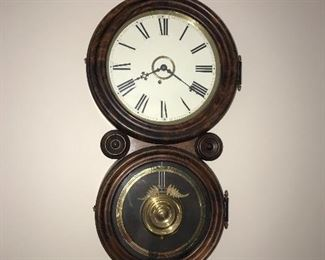 ANTIQUE FIGURE 8 WALL CLOCK