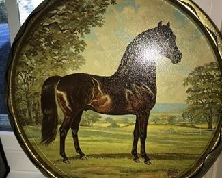 VINTAGE HORSE TRAY