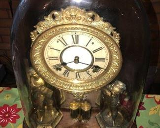 ANTIQUE SHELF/MANTEL CLOCK