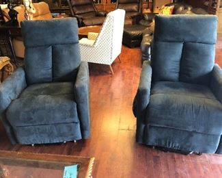 Electric Blue Suede Recliners!!