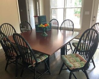 Large kitchen dinette set for designating all the resentful kids during thanksgiving.