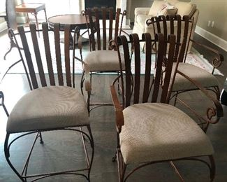 Happy big-bottom curly cue chairs