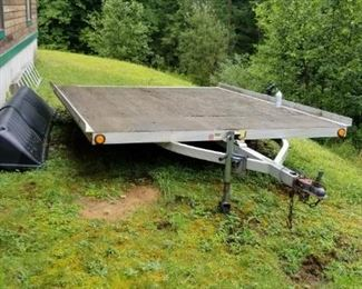 2 place snowmobile trailer with cover