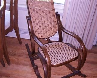 Bentwood childs rocking chair
