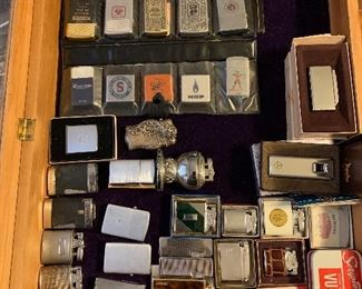 Very large vintage lighter collection. Most have never been used and still in og box.