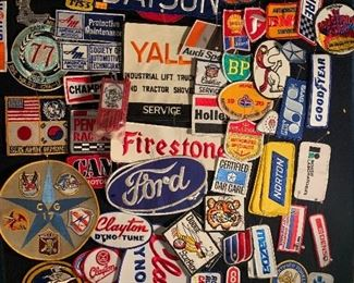 Lots of unused patches of all sorts from  military to automobiles