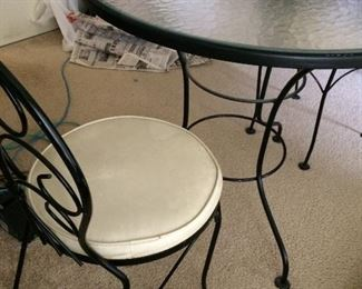 dining table and two seats